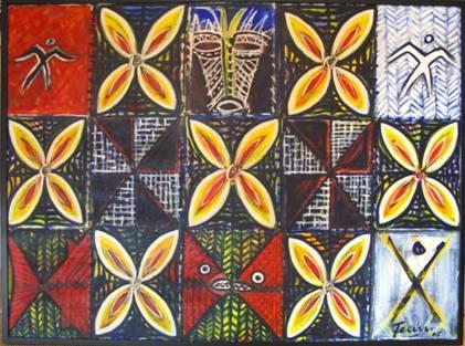 Fatu Feu'u.  Trailblazing Samoan painter.