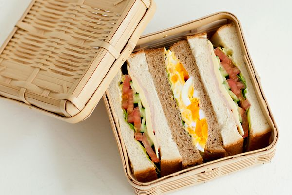 Bento sandwich box. Stylish and enhances eating outdoor experience.