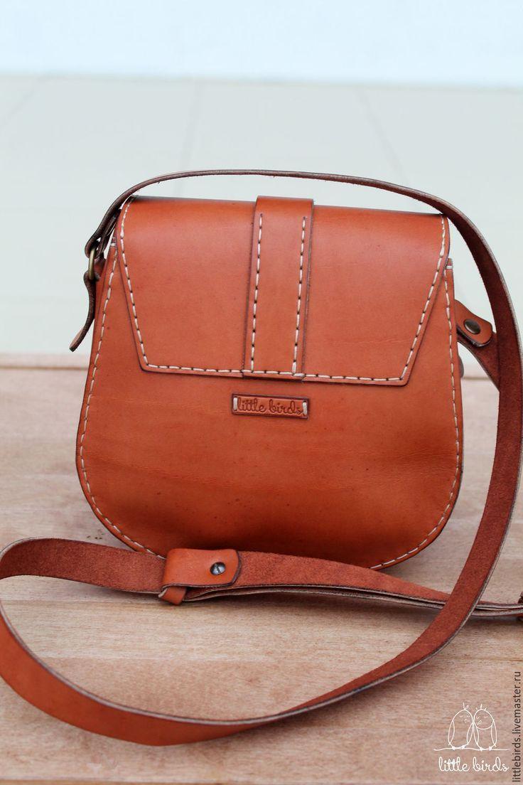 b4ef2c092b Leather pumpkin handbag | Vintage Bags | Leather bags handmade ...