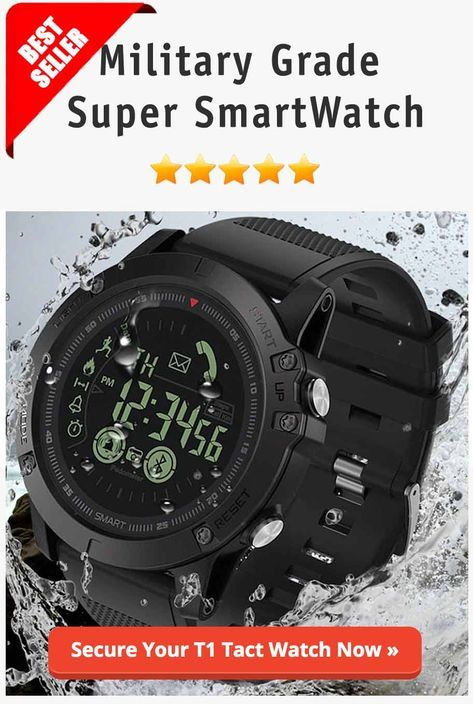 890eddab93a T1 Tact Watch is the  Alpha Male  of the smartwatch world. It s designed to  thrive in a world of danger