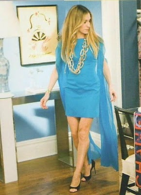 "Carrie Bradshaw - Emma Domb Dress SATC  Carrie: ""And, Samantha: that pillow costs $500...lol"""
