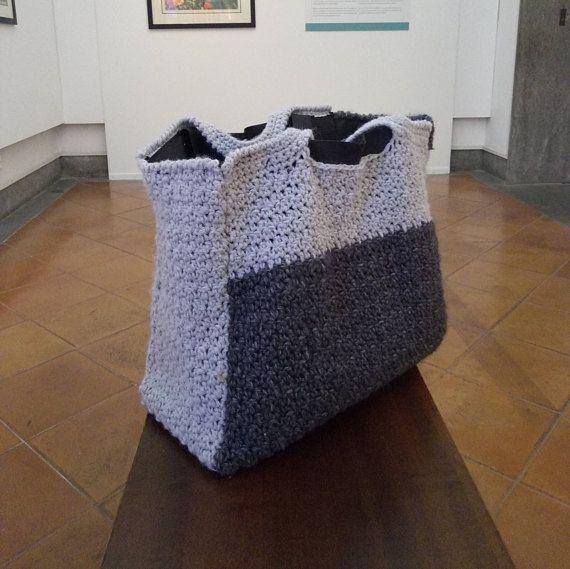 PATTERN: Gray tote bag wool handbag tote bag gray wool tote