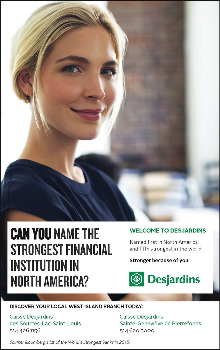 A Creative Ad for Desjardins in the West Island of Montreal. By Maestro Communications