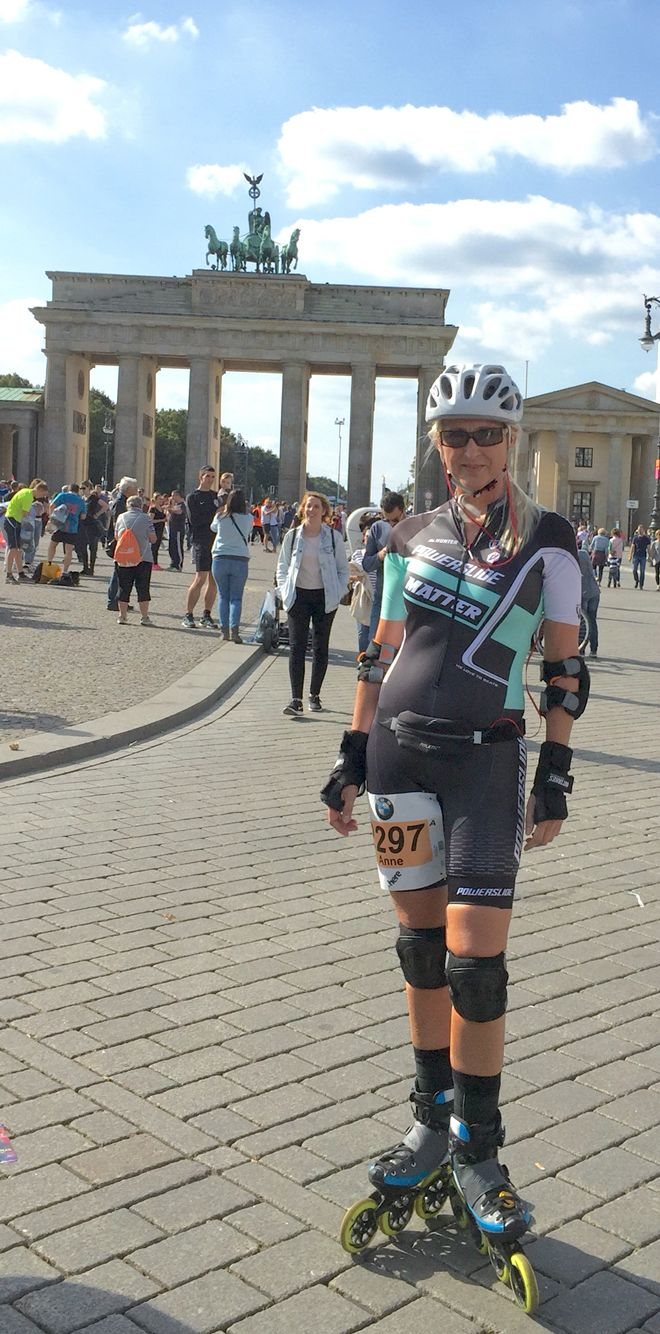 New Powerslide 'dress' for the largest Inliner rase in the world.  Place Berlin.  Participants: 5465 m/w My ranking: 599 m/w My new record: 01:49:12 42,195 km