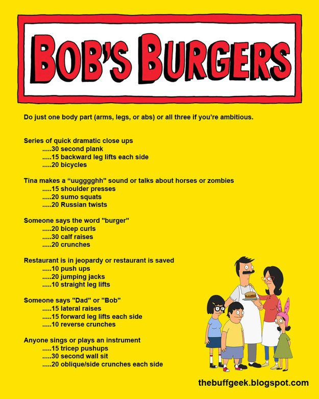 Bob's Burgers | 43 Workouts That Allow You To Watch An Ungodly Amount Of Television