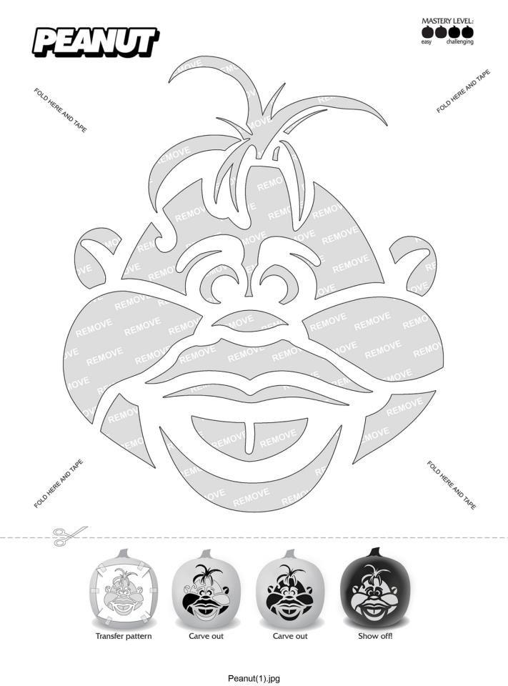 Jeff Dunham peanut pumpkin design