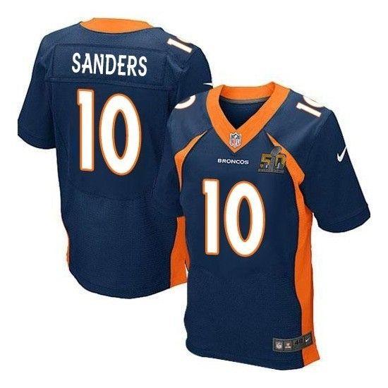 ... Mens Denver Broncos Peyton Manning New Navy Blue 2016 Super Bowl  Championship Patch Stitched NFL Nike Mens Elite ... a11eab84c