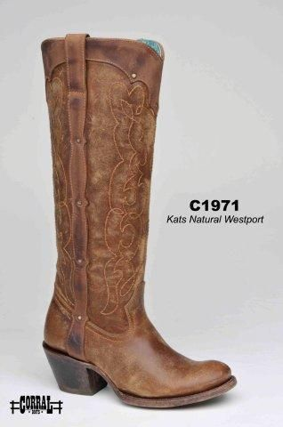 Corral Kats Natural Westport Women's Cowgirl Boots - HeadWest Outfitters