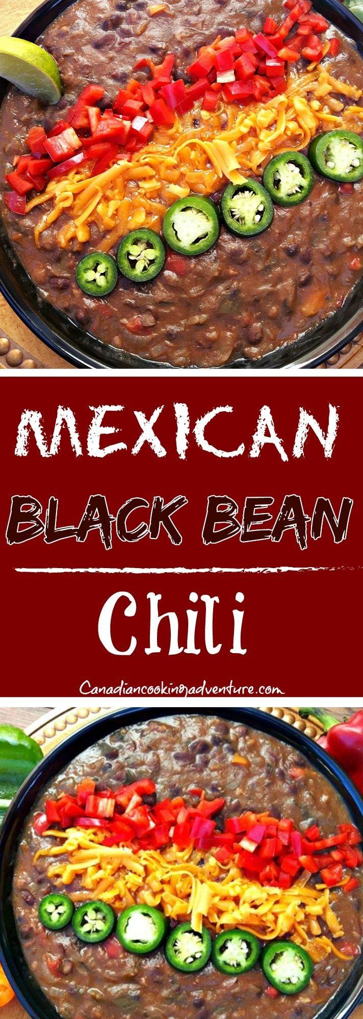 Mexican Black Bean Chili #Mexican #BlackBean #Chili