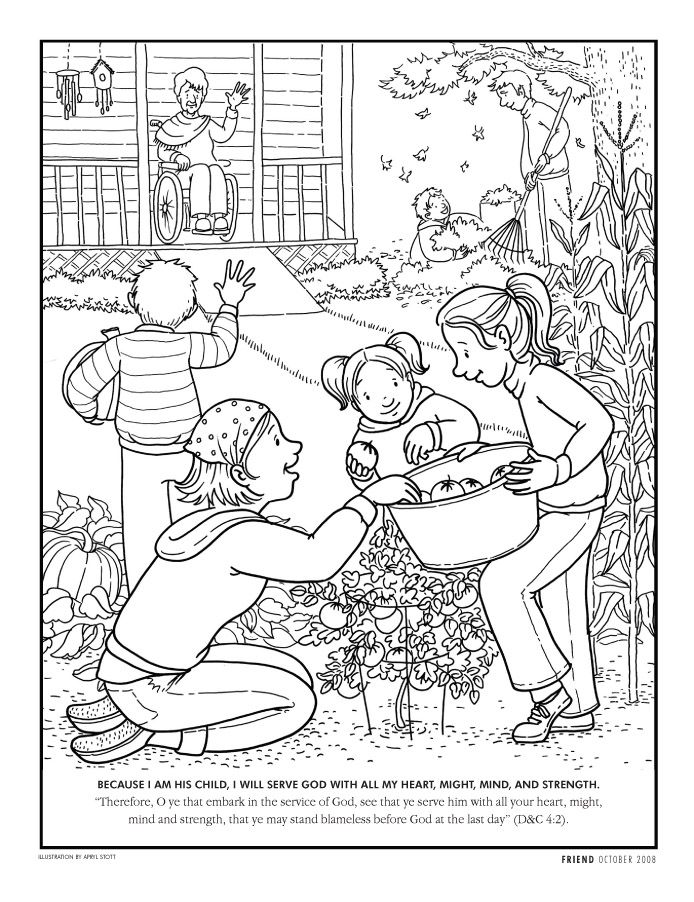 Serving God Coloring Pages By Ruben Lds Coloring Pages Coloring