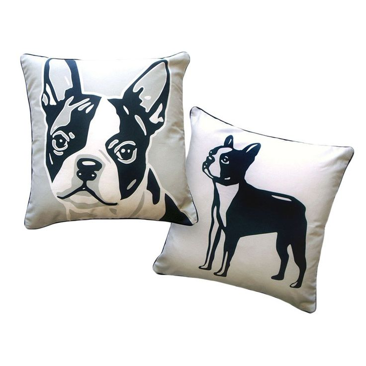Naked Decor // Boston Terrier Reversible Pillow