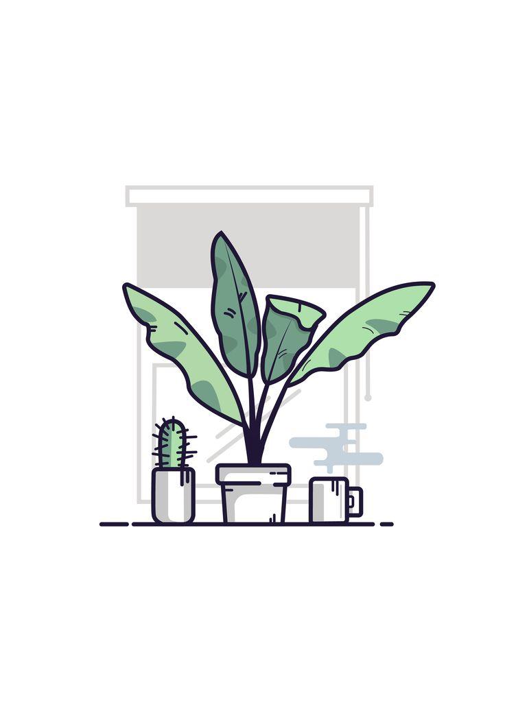 PLANTS on Ai GRAPHIC  ILLUSTRATION
