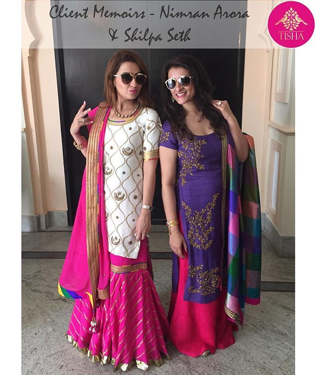 We're feeling twice the love! Bright and beautiful Nimran Arora & Shilpa Seth in TISHA!! #tsclientmemoirs #tishasaksena