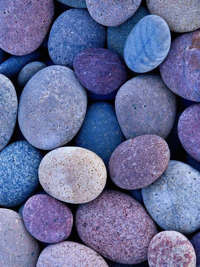 Blue purple stones turquesa violeta for What are river stones