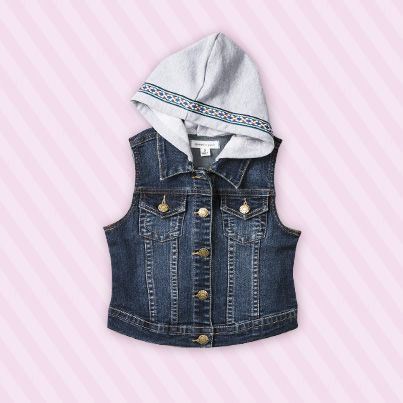 Pumpkin Patch Denim Hooded Vest - available in sizes 5 to 12 years http://www.pumpkinpatchkids.com/
