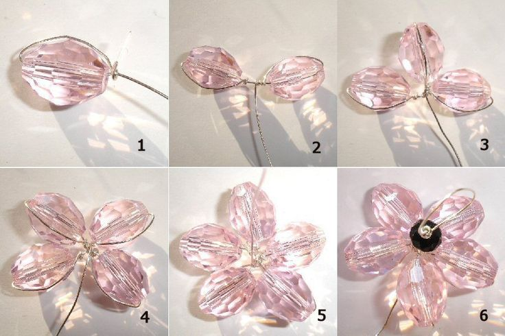 Tutorial – How to make a wire-wrapped flower shaped bead How to make a flower-shaped bead from crystal glass, oval beads… Here we learn how to wrap wire around beads in order to create a shape that can be used as a pendant, earring drop or whatever takes your fancy! This principal will work with ...
