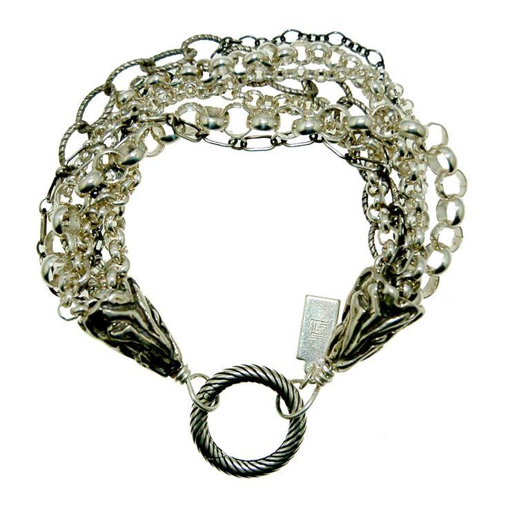 Sterling Silver Multi Chain Bracelet (B397R) $250