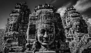 Smiling Faces at Bayon Temple