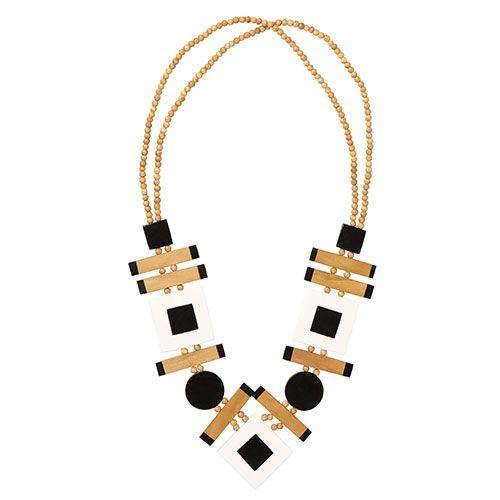 Marimekko Valssi Black/Wheat Necklace - Marimekko Jewelry