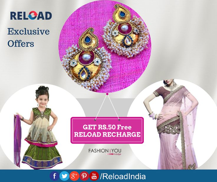 Exclusive Discount Coupons & Latest Offers on Fashion at Fashion and you. Check Out More Of These Fantastic Offers Only at #Reload! https://www.reload.in/shop-and-earn-free-mobile-recharge-online