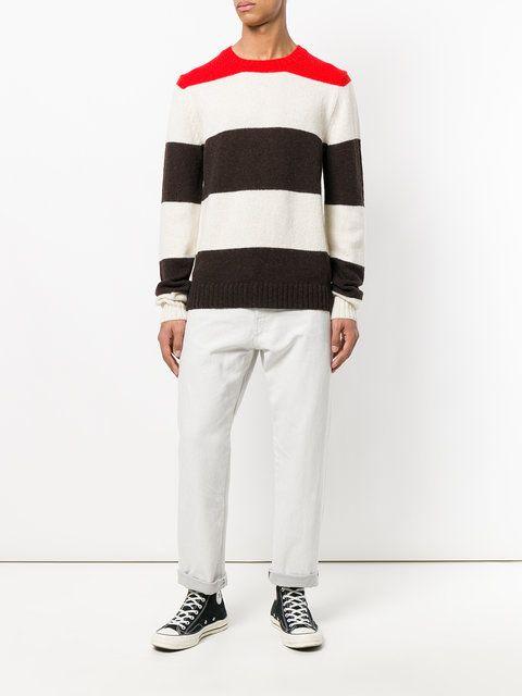 Calvin Klein striped colour-block top