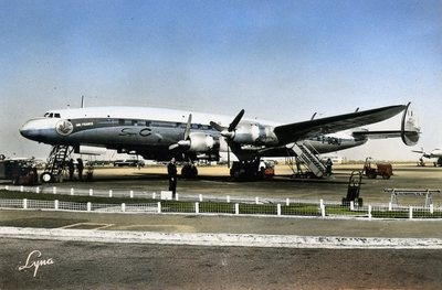 Air France airlines L. 1049C four-engined airliner/aeroplane/aircraft/airport