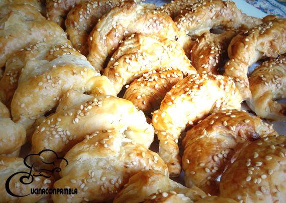 Mini croissant con speck e grana