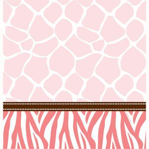 20727386 - Tablecover - Wild Safari Pink Wild Safari Pink Tablecover, Plastic (135cm x 270cm). Please note: approx. 14 day delivery