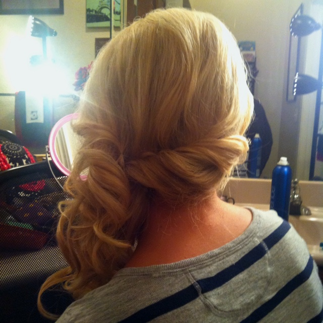 Bridal Hair for a one shoulder dress.