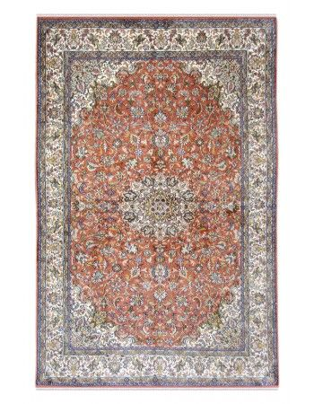 Rust Silk Kashan