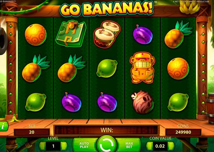 Go Bananas on varmasti valtava NetEnt kolikkopeli netissä! Aloita pelata ja suuret voittot ei tarvitse odotta paljon aikka! Kasino pelissa on tosi hyvää grafiikka, valtavat bonukset, 5 rullat ja 20 voittolinjat! tämä kaikki antaa hyvää mahdolisuus jokaisille voitta isot raha summat!