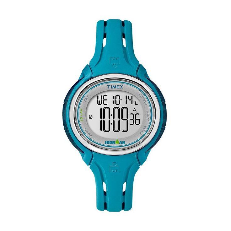 Timex Women's Ironman 50-Lap Digital Watch, Blue