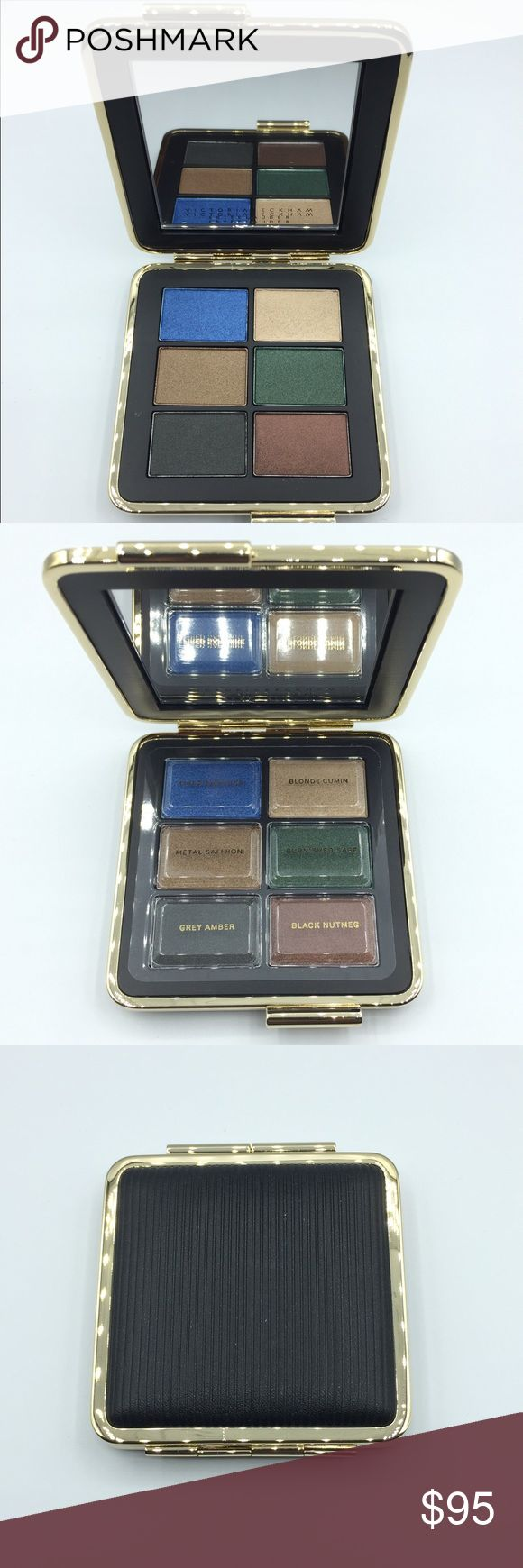 BNIB Estée Lauder Victoria Beckham Eye Palette Contains six shimmery eyeshadows featuring a wet/dry powder formula.  Fired Sapphire: medium blue with a frosted finish Blonde Cumin: light-medium gold with a soft, frosted finish Metal Saffron: medium, golden brown with a golden bronze shimmer Burnished Sage: medium-dark forest green with a frosted finish Gray Amber: dark, charcoal gray with a satiny shimmer Black Nutmeg: dark reddish brown with a pearly sheen  100% Authentic. Limited Edition…