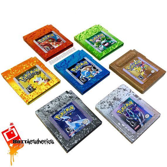 Custom Nintendo Gameboy Pokemon Red Blue Yellow Green