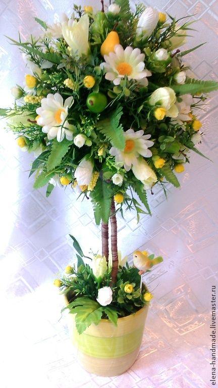 """Топиарий """" Адажио"""" - топиарий дерево счастья,флористическая композиция"""