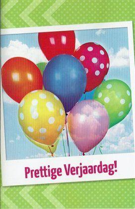 Prettige verjaardag - verjaardagskaart met ballonnen