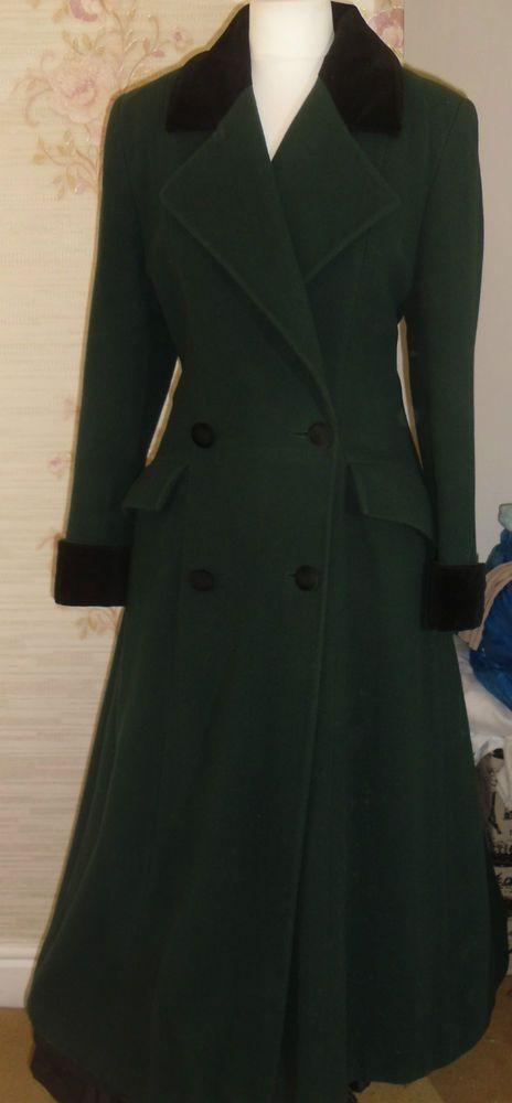 Ladies long velvet coats