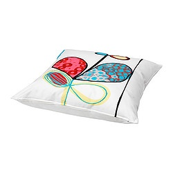 """$17.99 EIVOR KVIST cushion, multicolor Length: 22 """" Width: 22 """" IKEA"""