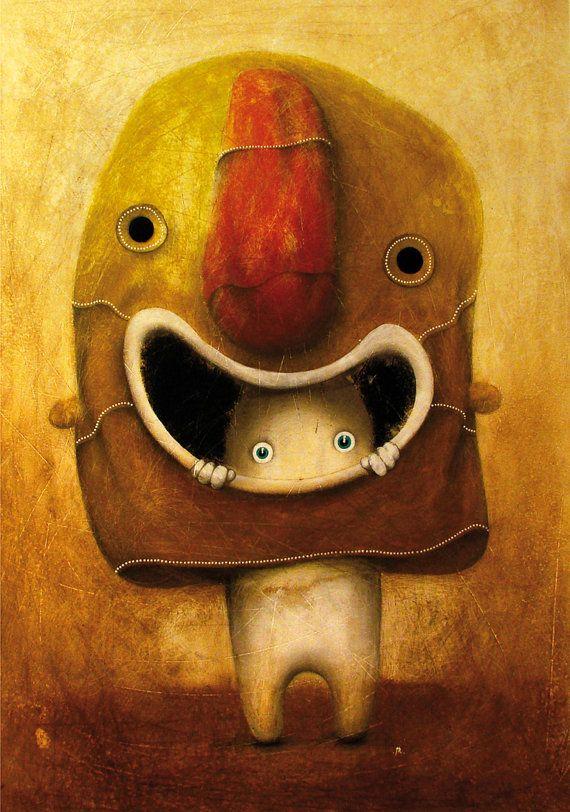 My painting reproduction / print *Maska* by RobertRomanowicz on Etsy