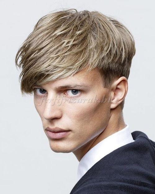 előre fésült férfi frizurák - előre fésült frizura