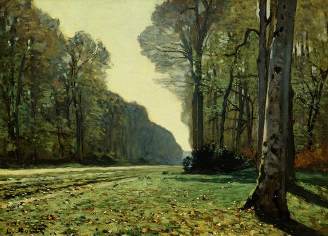 Dude- It's like a famous wall decal by Monet...The Path of Chailly by Claude Monet Wall Decal