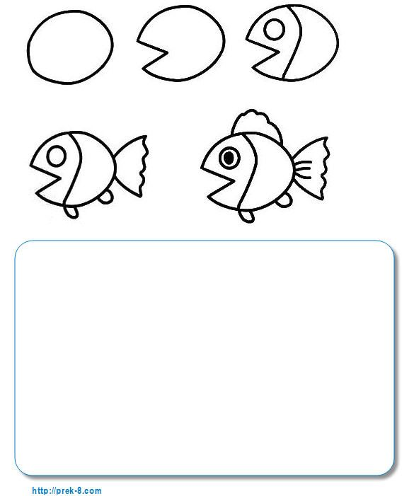 Sea Animal Directed Drawing For Kids