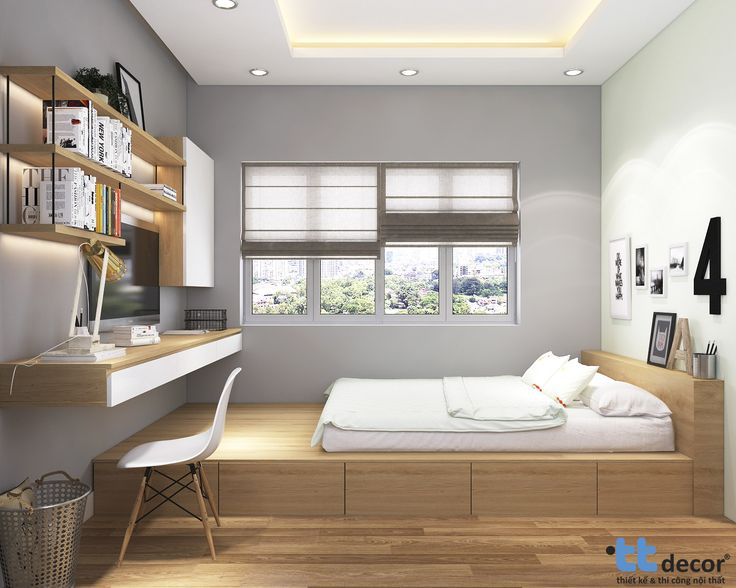 Thiết kế nội thất phòng ngủ nhà phố tại Bình Dương #thietkenoithat #phongngu #nhapho #noithatnhapho #interior #design #home #decor #bedroom #designer #townhouse