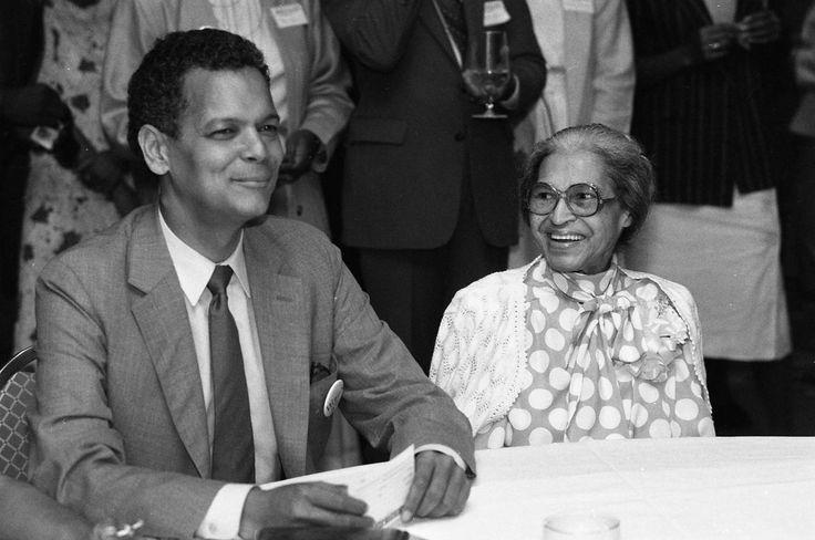 Julian Bond and Rosa Parks