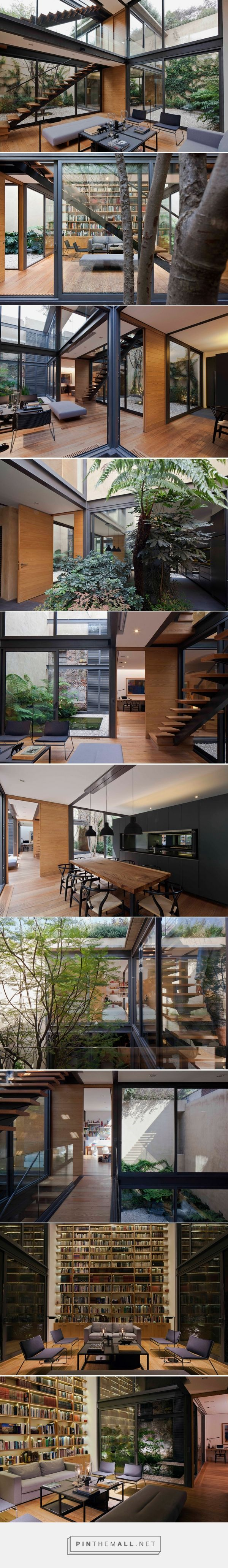 a house with four courtyards in mexico city by andrés stebelski - created via http://pinthemall.net