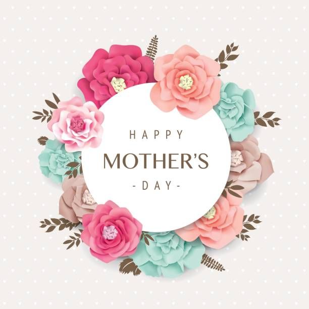 Happy Mother S Day Vector Art Illustration Happy Mothers Day Wishes Happy Mother S Day Card Happy Mothers Day Images