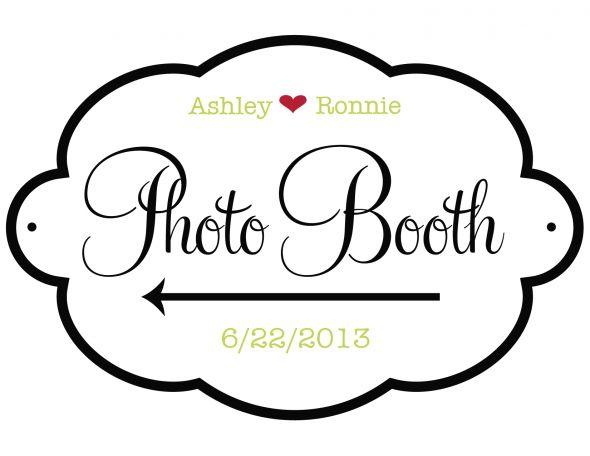 Photo Booth Sign found on Weddingbee.com