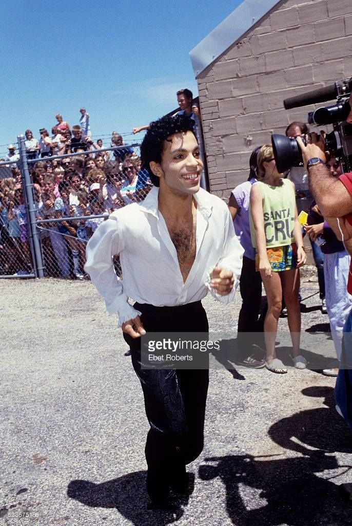 Rare picture of Prince in Sheridon, Wyoming for the World Premiere of Under the Cherry Moon. July, 1986