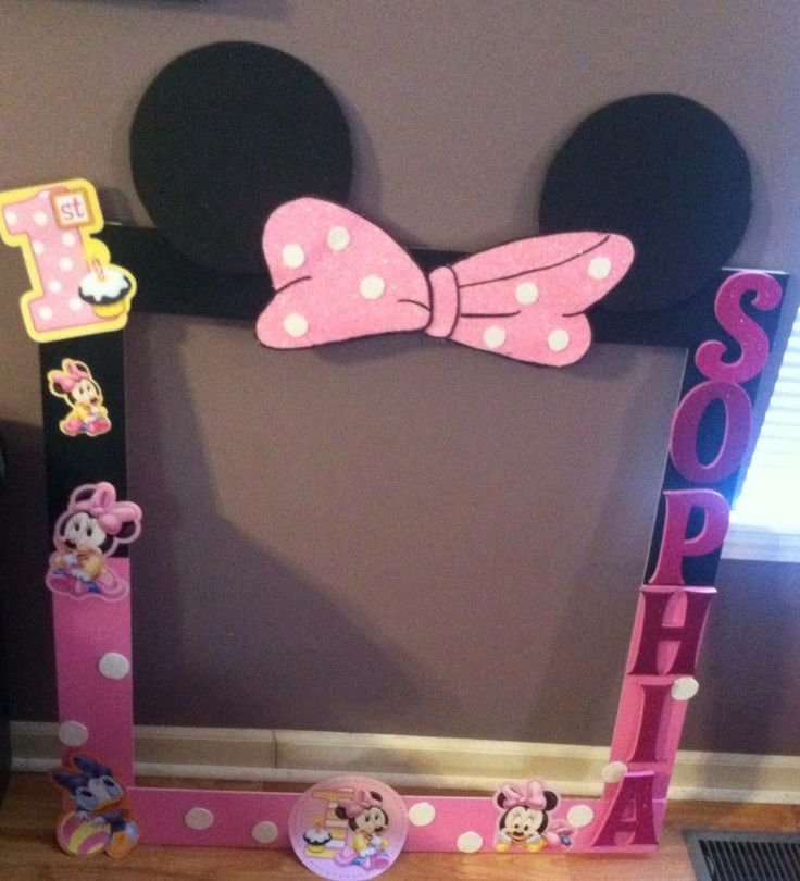 Party Minnie Mouse Frame Minnie Mouse Party Pinterest