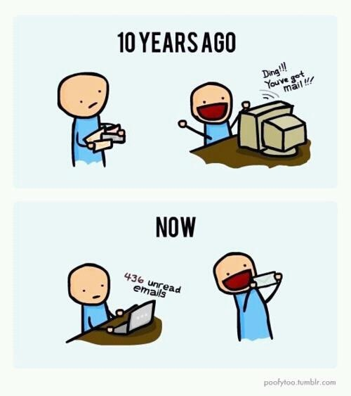 So true....I get so excited when I get real mail, not adds!!